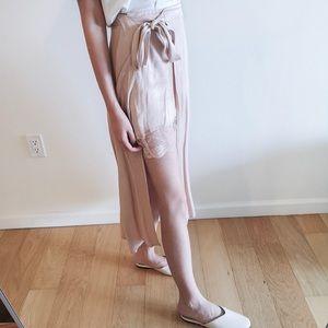 🆕 Zara pink satin dress shorts